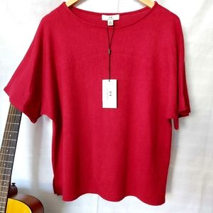 NWT H by Halston Red Blouse